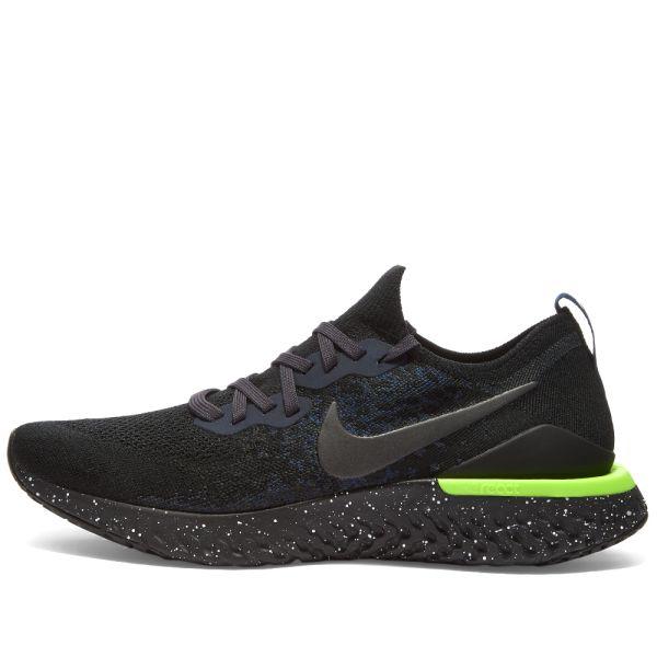 Nike Epic React Nike Epic React Flyknit 2 Black, Sequoia & Summit White | END.
