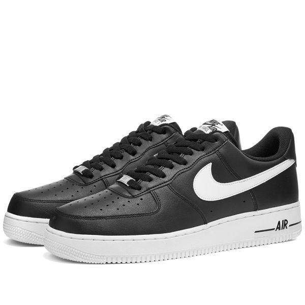 black air force 1 with white nike logo