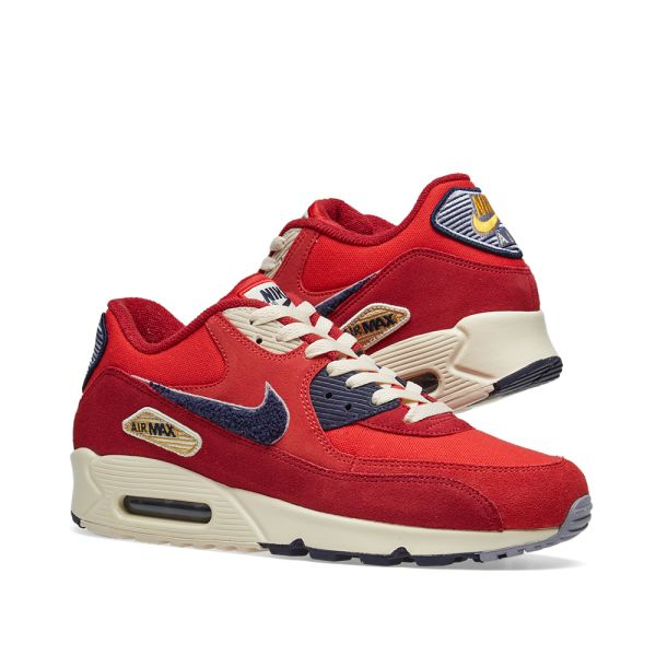 Nike Air Max 90 Chenille Swoosh University Red Purple 858954