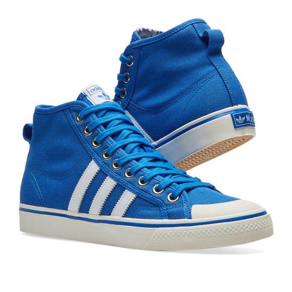 Adidas Nizza Hi Blue \u0026 Off White | END.