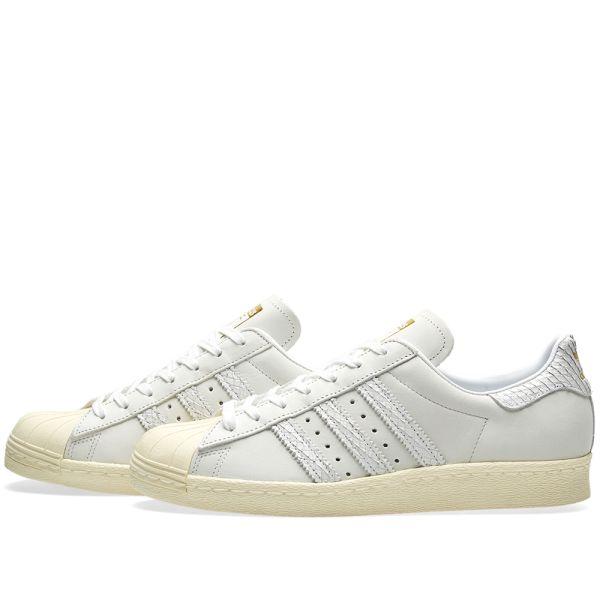 Adidas Superstar 80s W Light Grey & Cream White   END.
