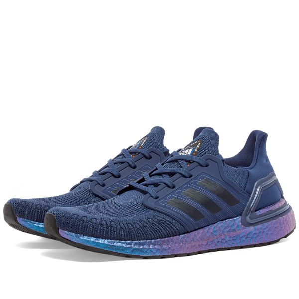 Enorme abrazo Sacrificio  Adidas Ultra Boost 20 'Space Race' Indigo, Ink & Blue Violet | END.