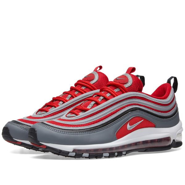 Nike Air Max 97 Dark Grey Gym Red White End