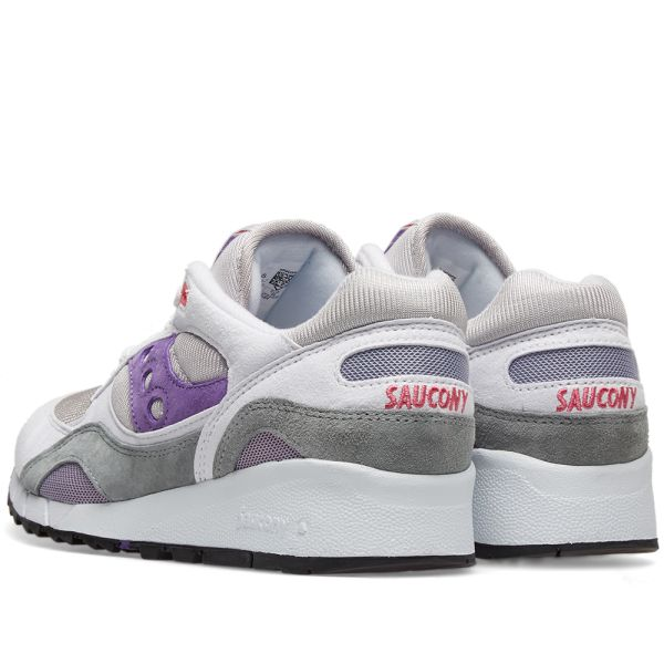 Details about Saucony Shadow 6000 WOMENS 10 running shoes white purple gray pink
