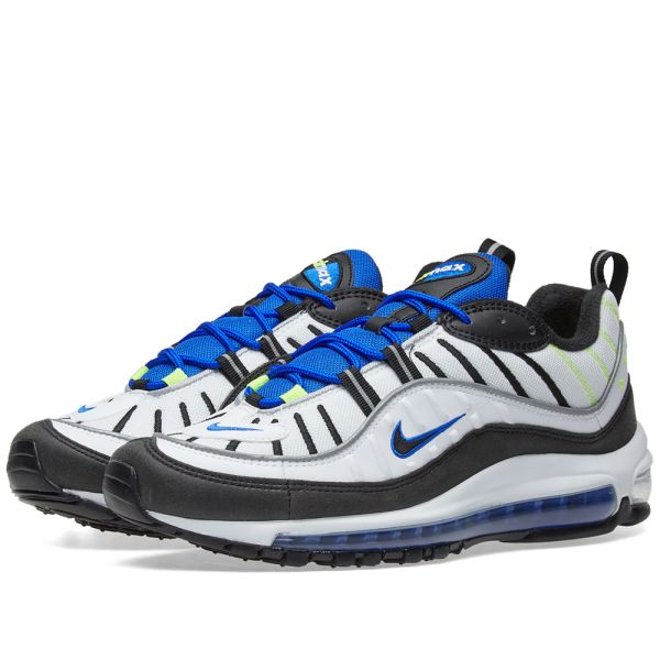 nike air max 98 white black racer blue volt nz|Free delivery!