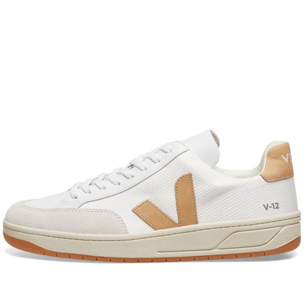 Veja V-12 Mesh Sneaker White \u0026 Desert