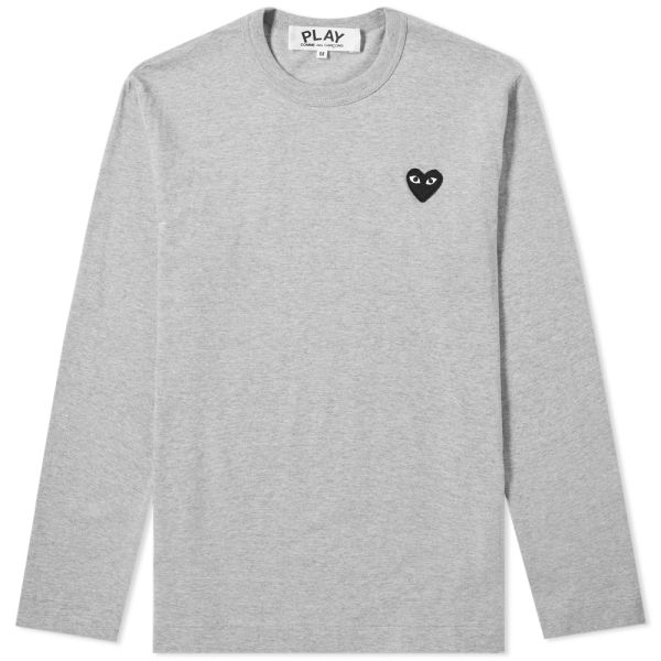 where can i buy good looking united states Comme des Garcons Play Long Sleeve Tee Grey & Black | END.