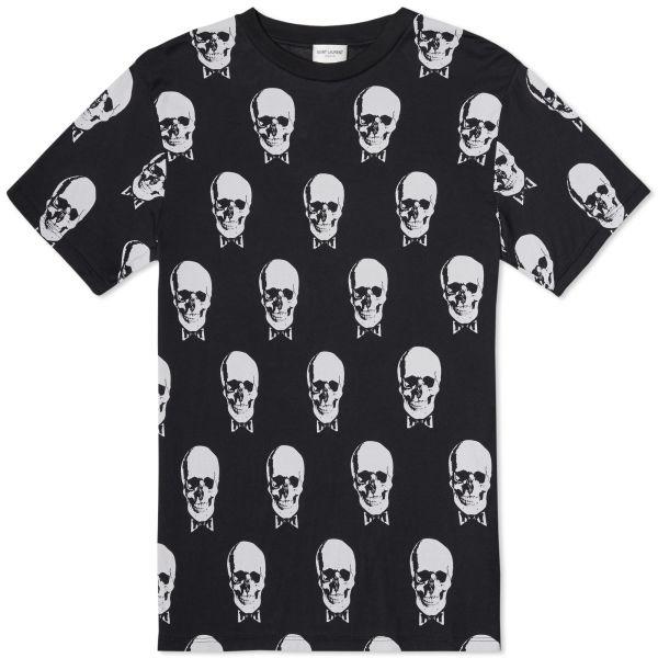 saint laurent skull shirt