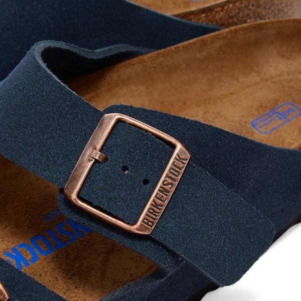 birkenstock blue suede arizona