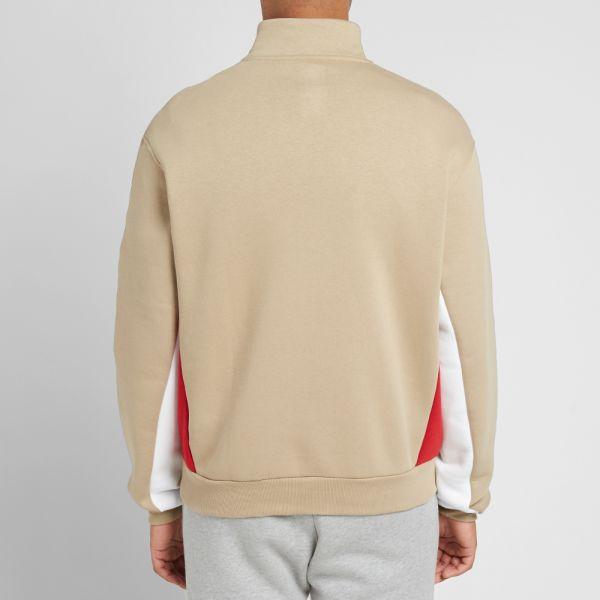 adidas fleece half zip