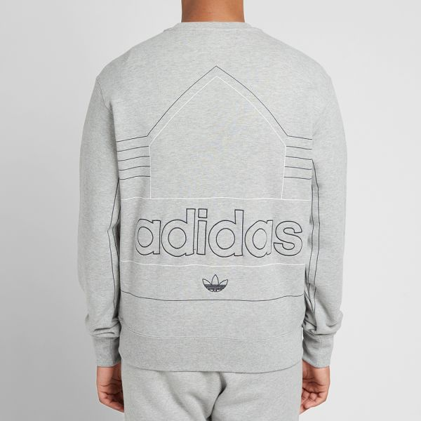 Attivazione articolo Desiderio  Adidas Rivalry Retro Crew Sweat Medium Grey & Ink | END.