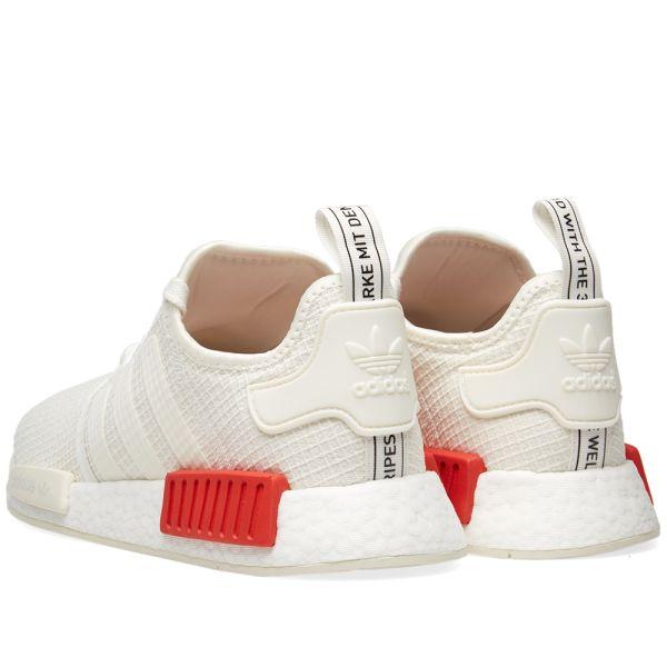 Adidas NMD_R1 Off White \u0026 Lush Red | END.
