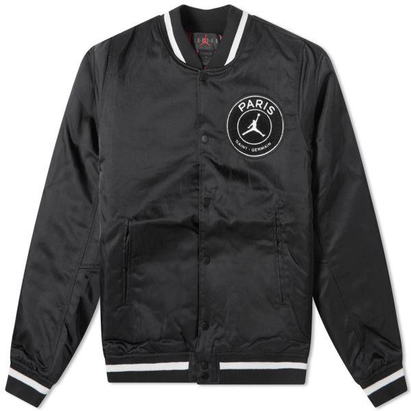 Air Jordan PSG Varsity Jacket Black