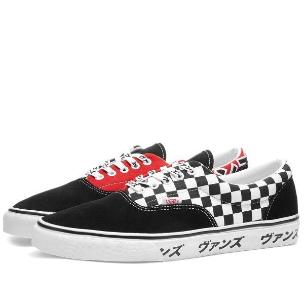 Vans Era Black, Red \u0026 True White | END.