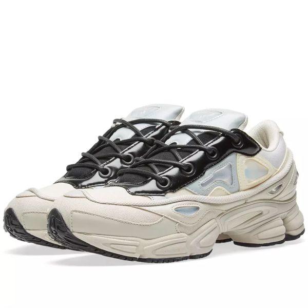 Adidas x Raf Simons Ozweego III White, Stone & Black | END.
