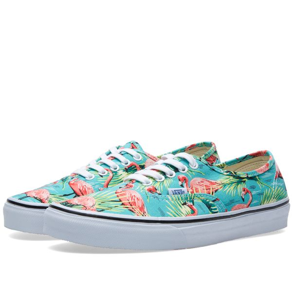Vans Authentic Van Doren Flamingo Skate Shoe, Turquoise