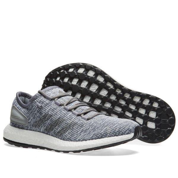 Adidas Pure Boost Solid Grey \u0026 Clear