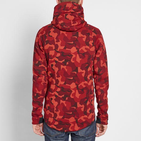 Nike MEN NIKE Tech Fleece Camo Windrunner Hoodie Jacket
