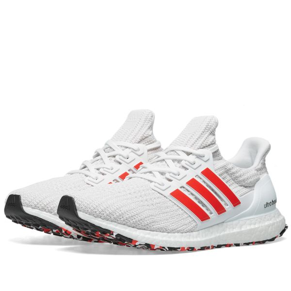 adidas ultra boost white with red