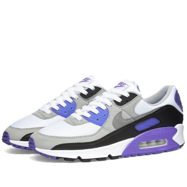 Nike Air Max 90 W White Grey Hyper Grape End