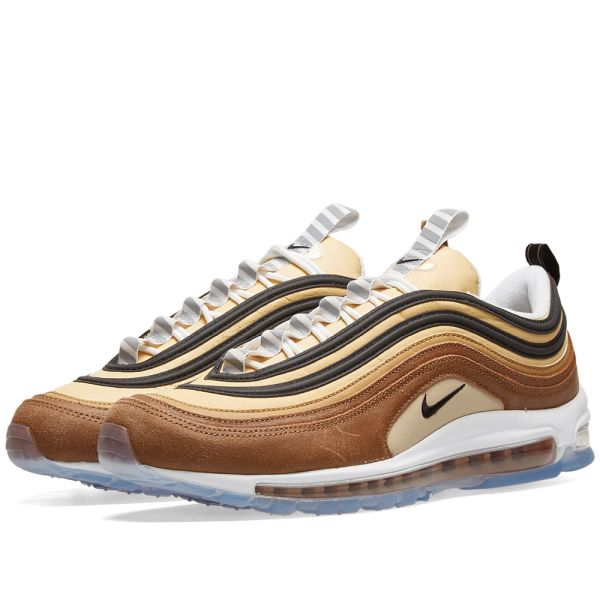 nike air max 97 white and gold