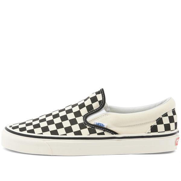 vans black and white checkerboard slip on