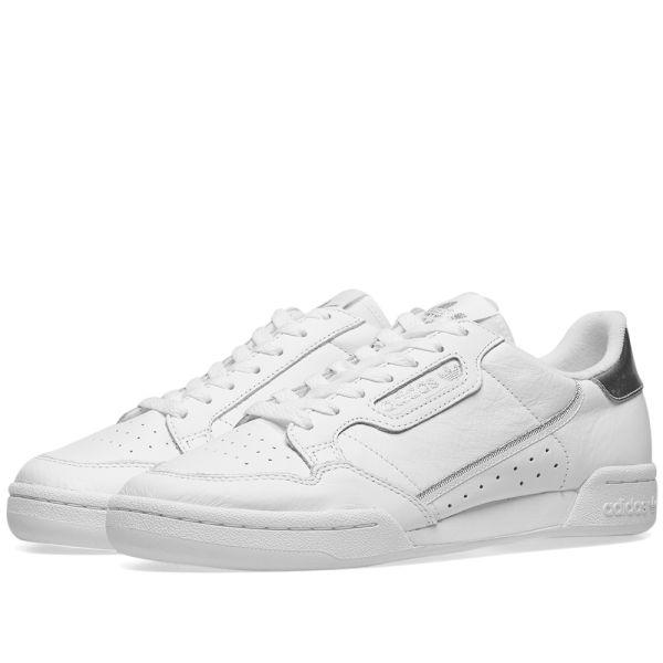Adidas Continental 80 W White \u0026 Silver