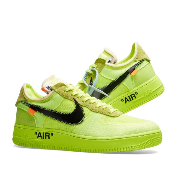 Nike Off White Air Force One 1 Volt Yellow Virgil AF1