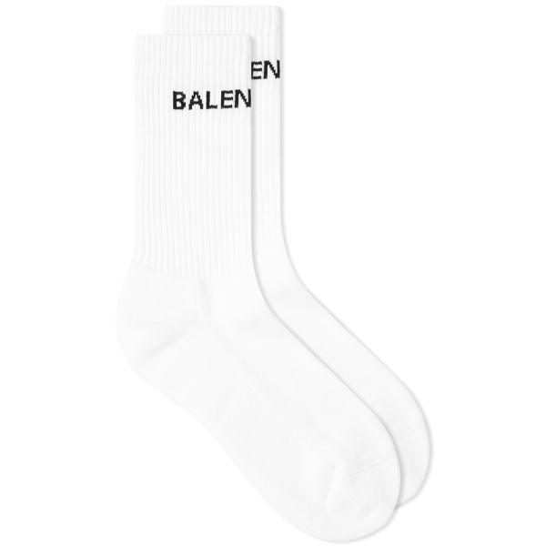 Balenciaga Tennis Logo Sock White