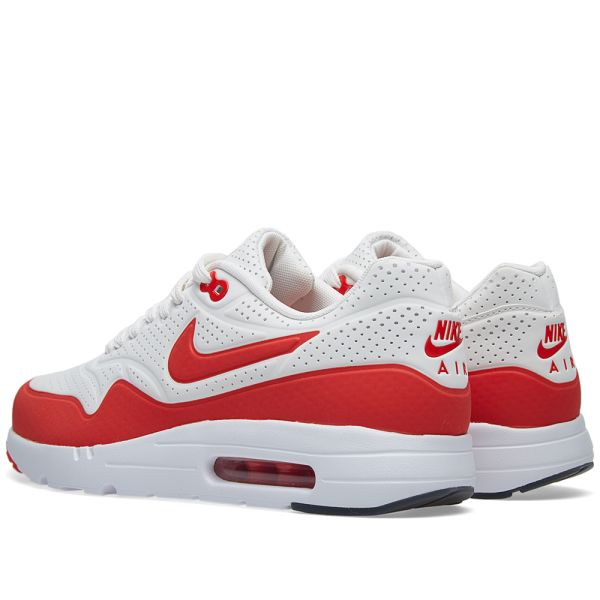 authentic good out x classic fit Nike Air Max 1 Ultra Moire Summit White & Challenge Red | END.