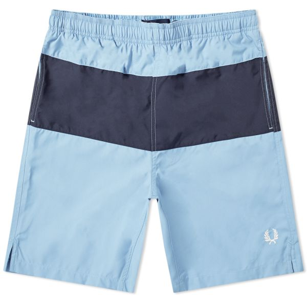 Fred Perry Mens Panelled Swimshort