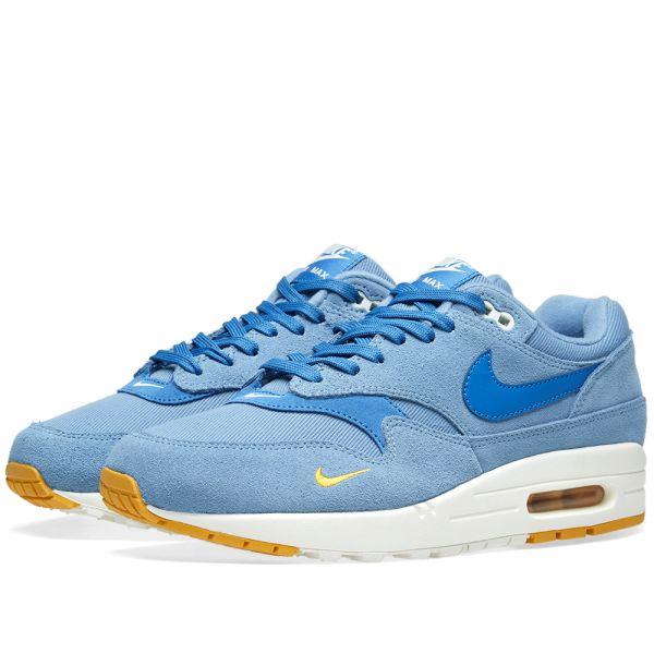 Nike Air Max 1 Premium Blue, Yellow