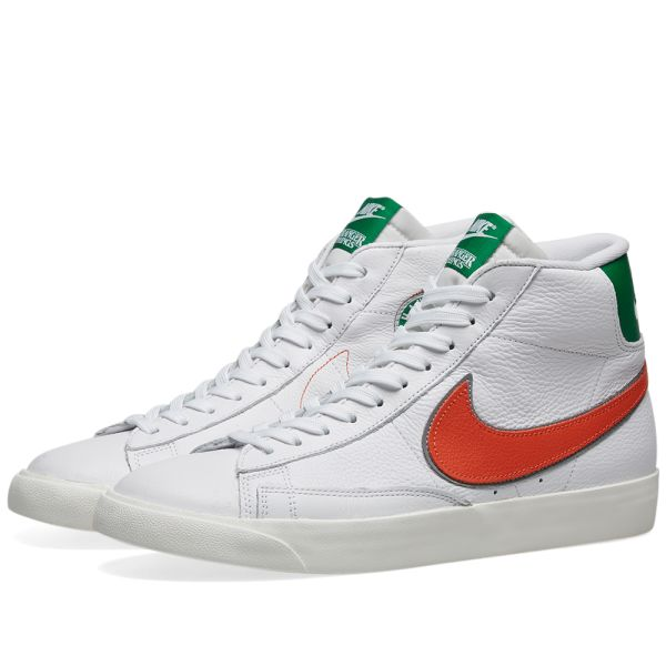 Vatio línea Pasteles  Nike x Stranger Things Blazer Mid White, Cosmic Clay & Green | END.