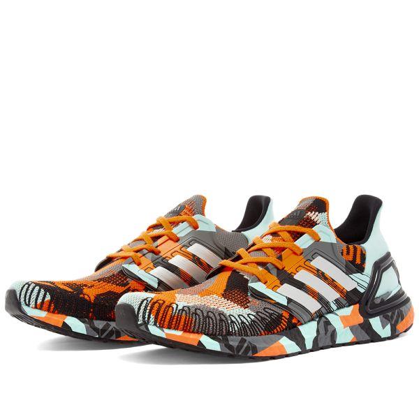 Adidas Ultra Boost 20 Orange, Silver