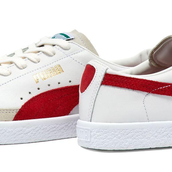 Puma Basket VTG White \u0026 High Risk Red