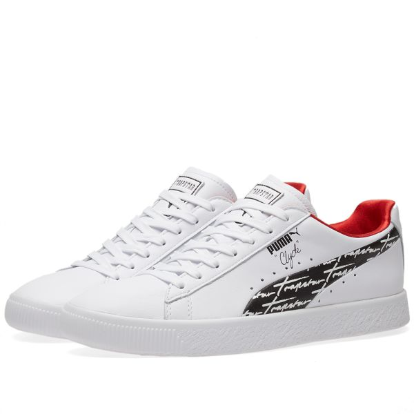 Details zu Puma Clyde Trapstar Herren Sneaker Leder Schuhe Turnschuhe Freizeit 364712 02