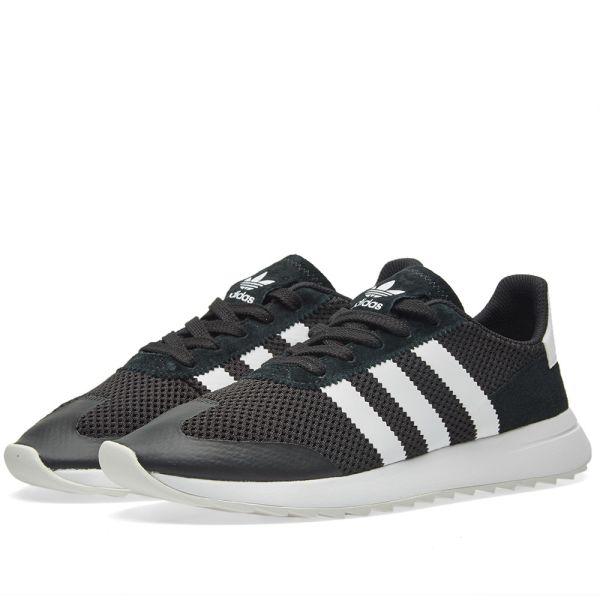 adidas Women's Flashback Sneaker in Black White Black