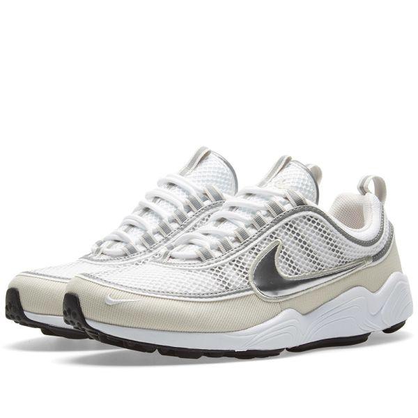 Nike Air Zoom Spiridon '16 Shoes White Metallic Silver