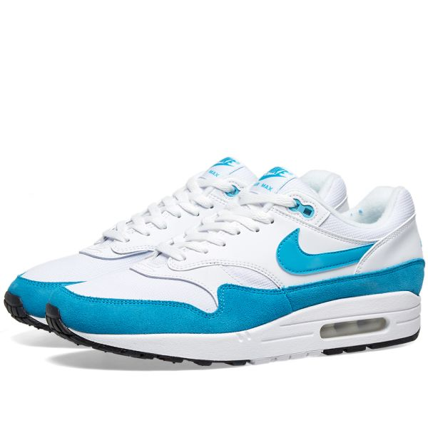 Nike Wmns Air Max 1 White Light Blue Fury Black