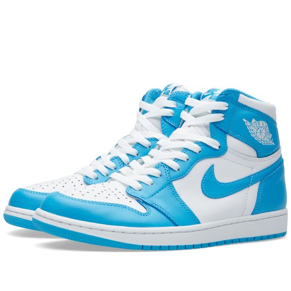 Nike Air Jordan 1 Retro High Og White Dark Powder Blue End