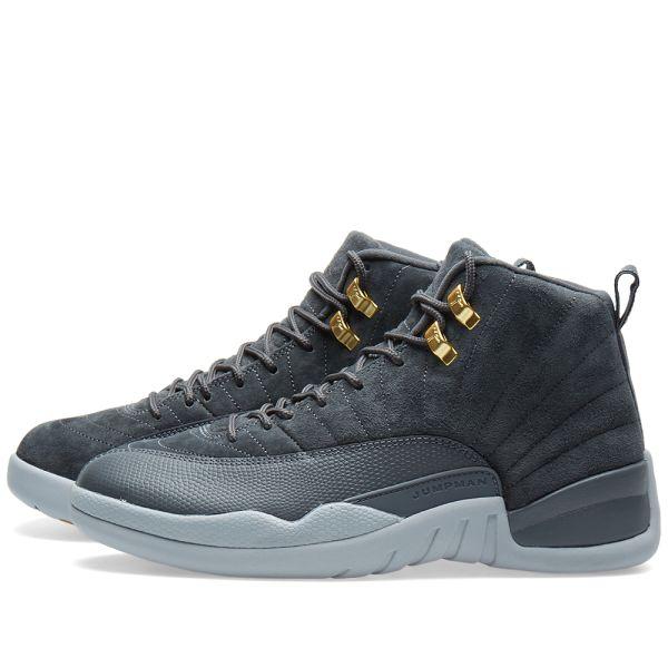 womens Air jordan 12 Nike Air Jordan 12 Retro Grey & Golden Harvest | END.