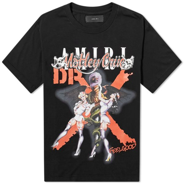 Motley Crue Skull /& Cuffs Adult Men T Shirt Heavy Metal Band Merch