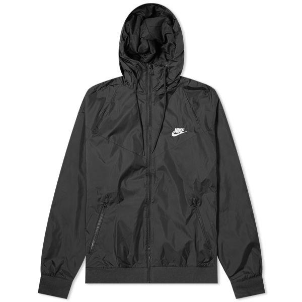 nike windbreaker jacket black and white