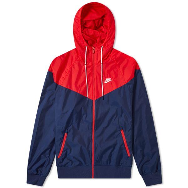 Fracción Espolvorear levantar  Nike Windrunner Jacket Midnight Navy, Red & White | END.