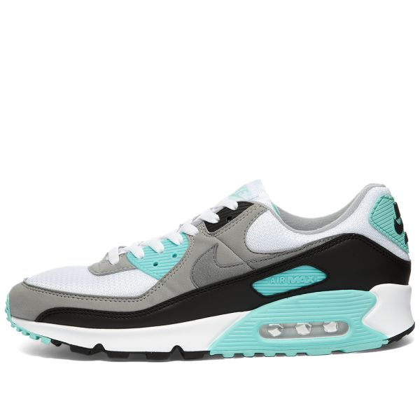nike air max 90 turquoise and white $60.00