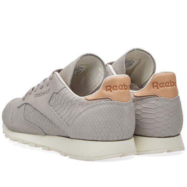 Prefacio vena mañana  Reebok Classic Leather Clean Lux Tin Grey & Chalk | END.