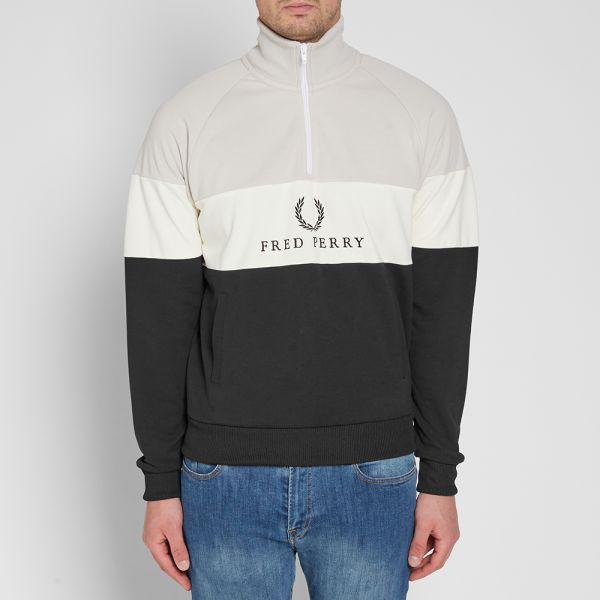 Fred Perry : Embroidered Sweatshirt Dress 10 SALE Black