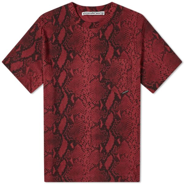 sold worldwide united states sports shoes Alexander Wang Snakeskin Print Tee