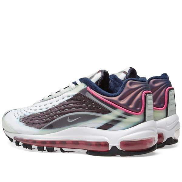 Pink and White Nike Air Max Silber 1