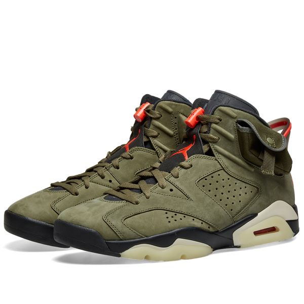 nike travis scott air jordan 6 olive